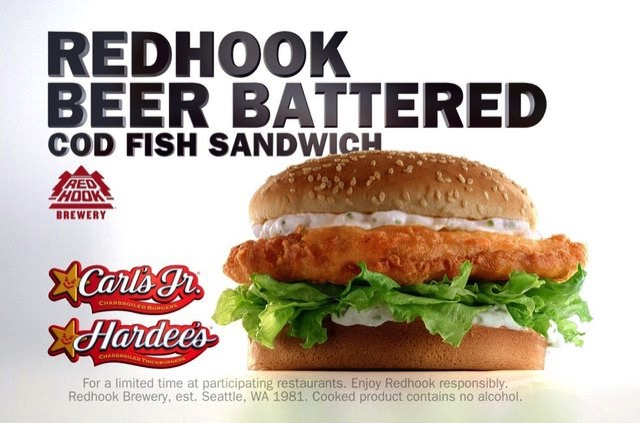 fast food news carl 39 s jr and hardee 39 s redhook beer