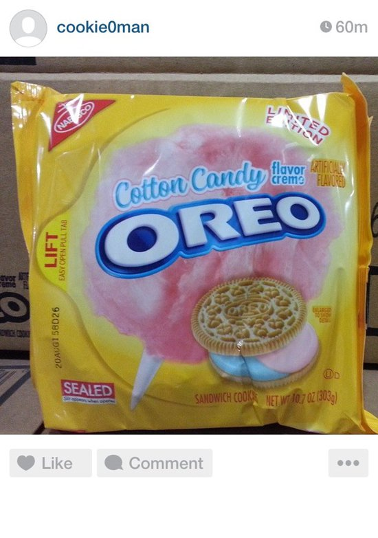 COMING SOON: Nabisco Limited Edition Cotton Candy Oreo ...