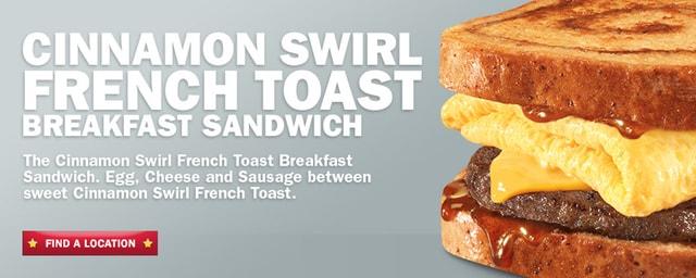 ... Cinnamon Swirl French Toast Breakfast Sandwich | The Impulsive Buy