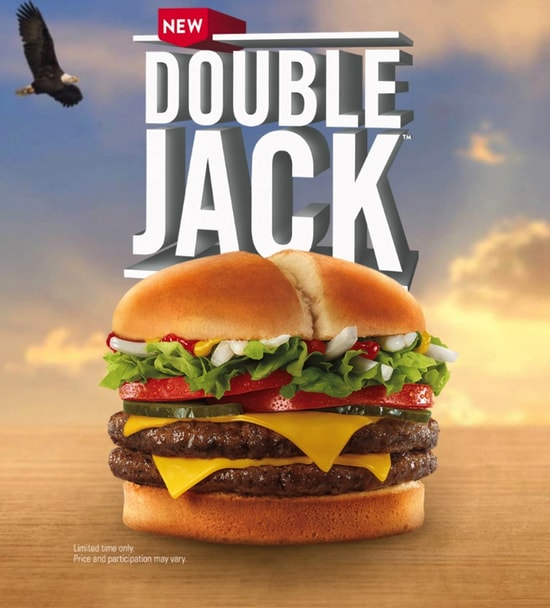 fast food news jack in the box double jack the impulsive buy. Black Bedroom Furniture Sets. Home Design Ideas