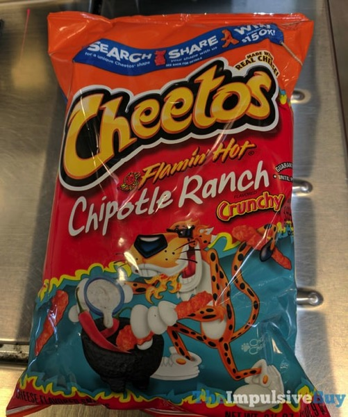 SPOTTED ON SHELVES: Cheetos Crunchy Flamin' Hot Chipotle Ranch