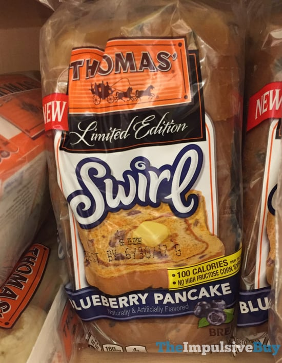 SPOTTED ON SHELVES: Thomas Limited Edition Blueberry Pancake Swirl Bread