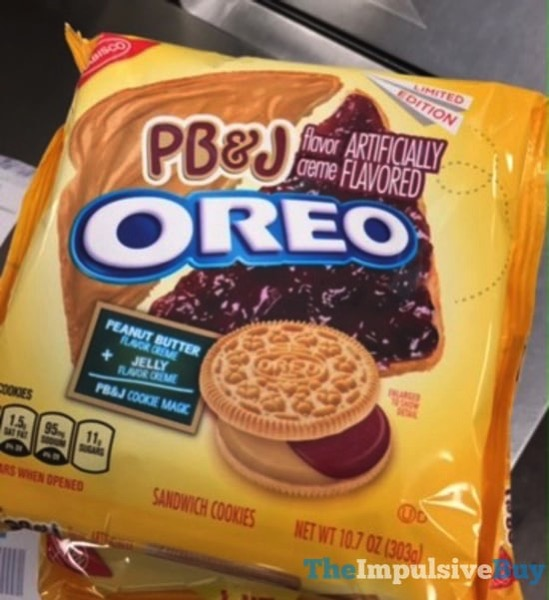 SPOTTED ON SHELVES: Limited Edition PB&J Oreo Cookies ...