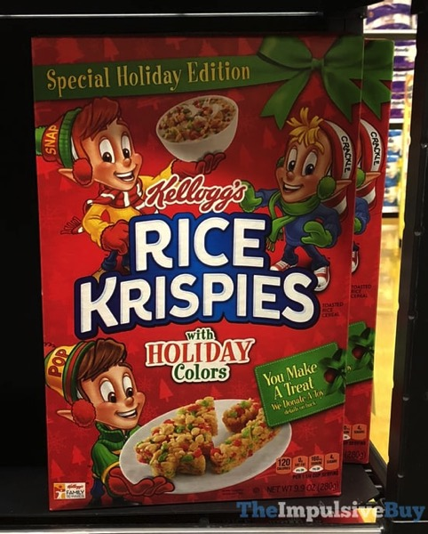 kelloggs special holiday edition rice krispies with holiday colors cereal 2017 box designjpg the impulsive buy