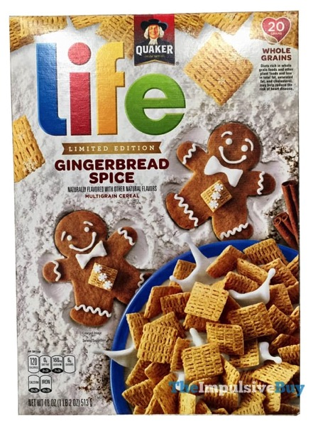 REVIEW: Quaker Limited Edition Gingerbread Spice Life Cereal - The Impulsive Buy
