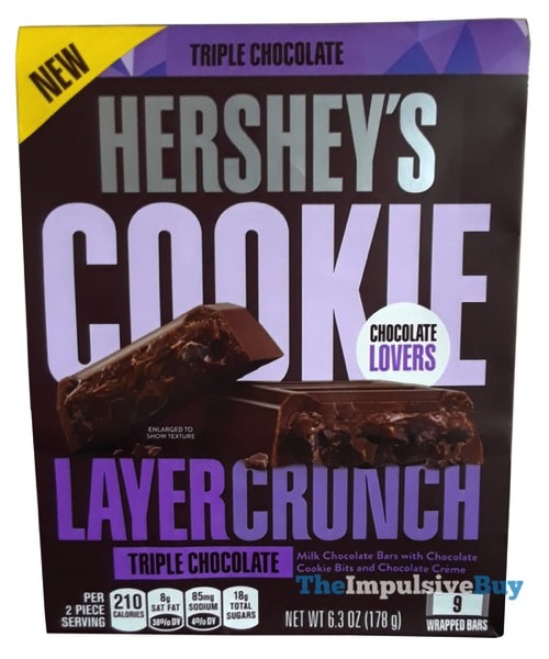 REVIEW: Hershey's Triple Chocolate Cookie Layer Crunch Bars - The Impulsive Buy