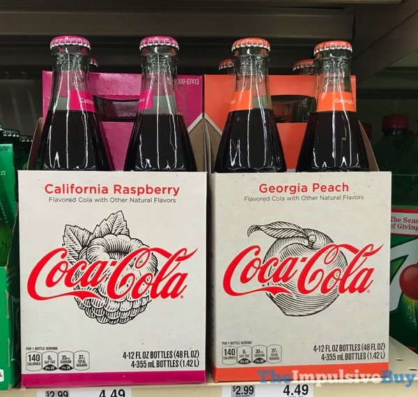SPOTTED ON SHELVES: Coca-Cola California Raspberry and Georgia Peach - The Impulsive Buy