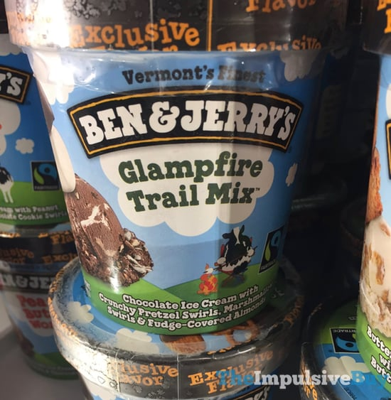 SPOTTED ON SHELVES: Ben & Jerry's Target Exclusive Flavor Glampfire Trail Mix Ice Cream - The Impulsive Buy