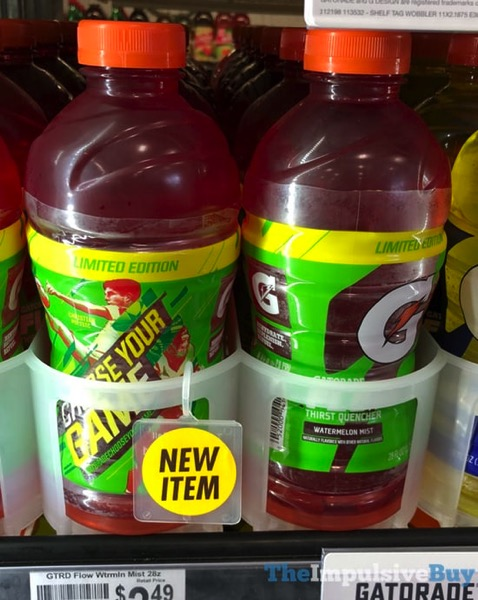 SPOTTED ON SHELVES: Gatorade Flow Limited Edition Watermelon Mist - The Impulsive Buy