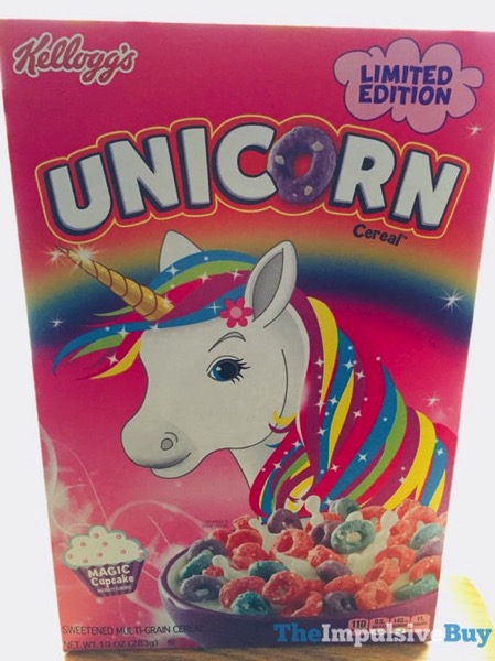 SPOTTED ON SHELVES: Kellogg's Limited Edition Unicorn Cereal - The Impulsive Buy