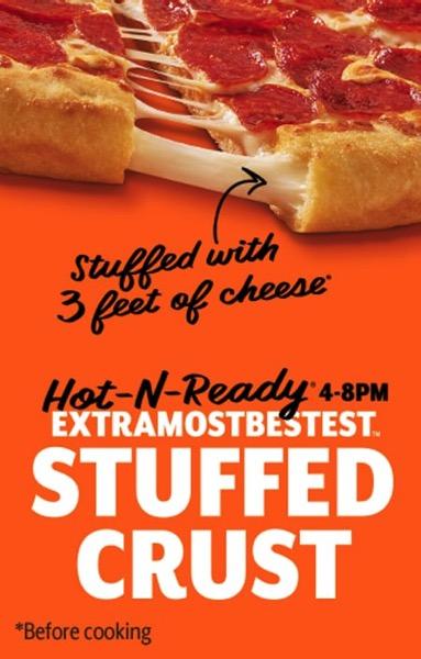 FAST FOOD NEWS: Little Caesars ExtraMostBestest Stuffed Crust Pizza - The Impulsive Buy