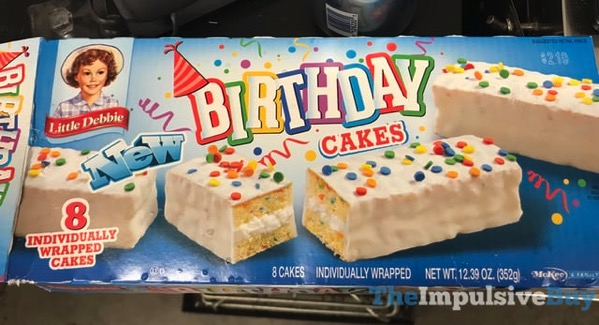 Awe Inspiring Spotted On Shelves Little Debbie Birthday Cakes The Impulsive Buy Funny Birthday Cards Online Eattedamsfinfo