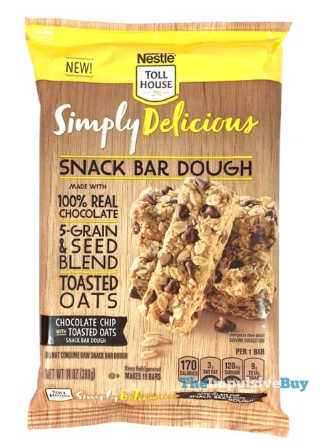 Review Nestle Toll House Simply Delicious Snack Bar Dough