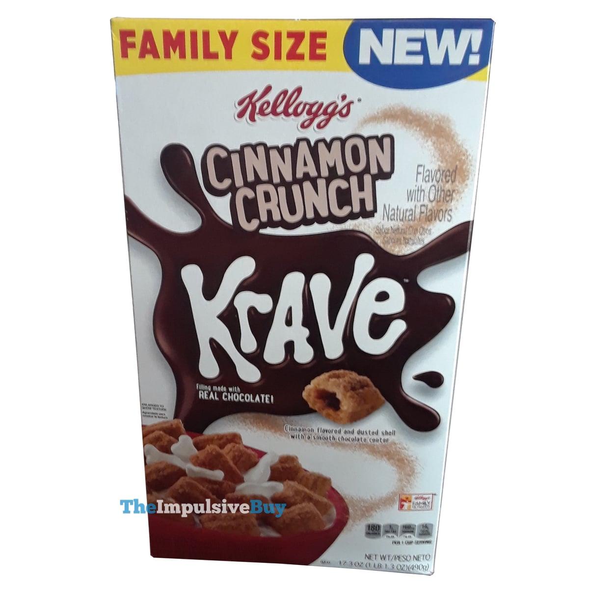 Kellogg's Krave Cereal Cinnamon Crunch