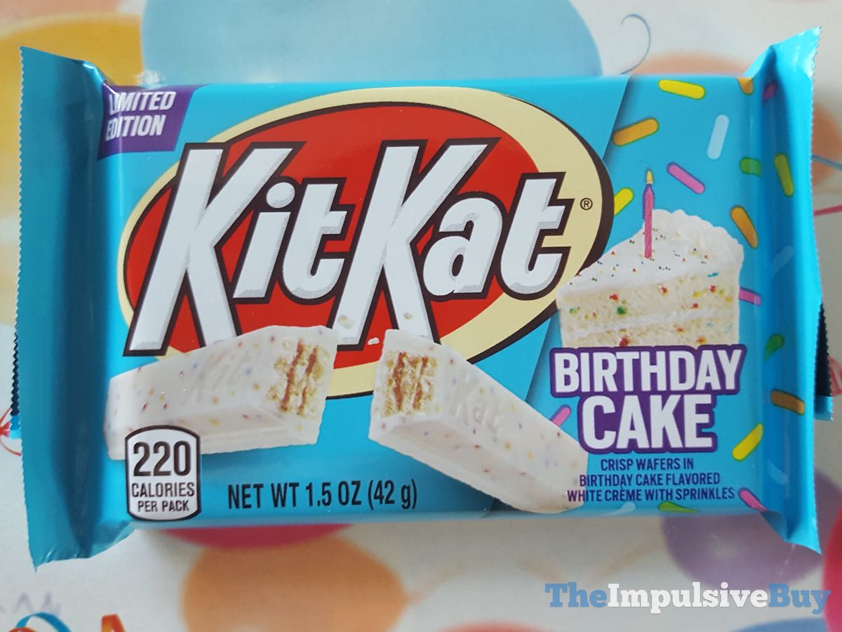 Awe Inspiring Review Birthday Cake Kit Kat The Impulsive Buy Funny Birthday Cards Online Alyptdamsfinfo