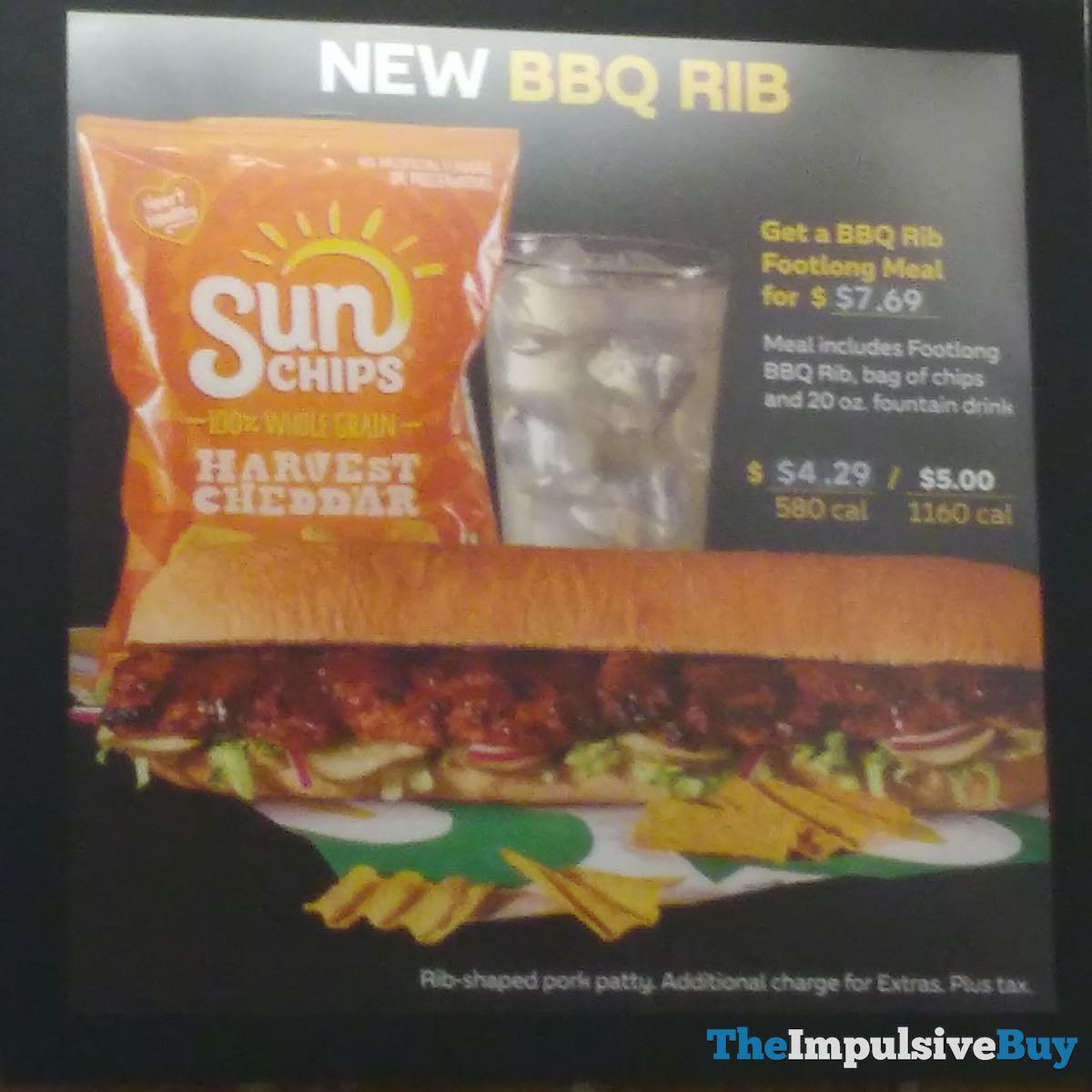 Review Subway Bbq Rib Sandwich The Impulsive Buy